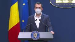 Conferință de presă după ședința Guvernului României din 15 ianuarie 2021