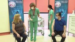 Vaccinarea anti-COVID-19 a Președintelui Senatului, Anca Dragu, și președintelui Camerei Deputaților, Ludovic Orban
