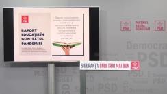 Conferință de presă susținută de europarlamentarul și vicepreședintele PSD, Victor Negrescu