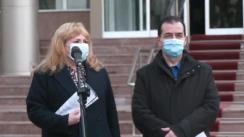 Declarații după vaccinarea anti-COVID-19 a Președintelui Senatului, Anca Dragu, și președintelui Camerei Deputaților, Ludovic Orban