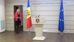 """Briefing de presă susținut de către deputatul Partidului """"ȘOR"""", Violeta Ivanov, pe una dintre cele mai actuale teme ale momentului"""