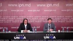 """Conferința de presă organizată de co-proprietarul rețelei de benzinării Vento, Igor Borș, și avocatul Victor Munteanu cu tema """"Cum a fost fabricat dosarul VENTO"""""""