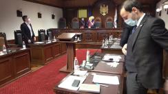 Ședința Curții Constituționale de examinare a sesizărilor depuse privind controlul constituționalității Legii nr. 234 din 16 decembrie 2020 cu privire la funcționarea limbilor vorbite pe teritoriul Republicii Moldova