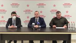 Briefing organizat de Partidul Socialiștilor din Republica Moldova dedicat subiectului Legii cu privire la funcționarea limbilor în Republica Moldova