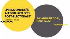 "Dezbatere online ""Presa online în alegeri: reflecții post-electorale"""
