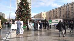 """""""Și eu susțin Autostrada Unirii A8"""" - miting organizat de Asociația Împreună Pentru A8, în Piața Unirii din Iași"""