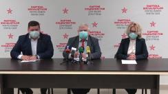 Briefing de presă organizat de către Partidul Socialiștilor din Republica Moldova