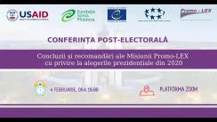"Post-election conference organized by the Promo-LEX Association with the topic ""Conclusions and recommendations of Promo-LEX Observation Mission with regard to the 2020 presidential elections"""
