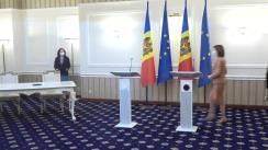 Ceremonia de semnare a Acordului privind edificarea și dezvoltarea parteneriatului între Președintele Republicii Moldova și Congresul Autorităților Locale din Moldova