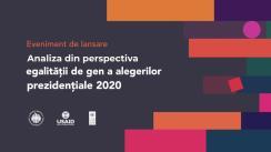 Eveniment de lansare a analizei din perspectiva egalității de gen a alegerilor prezidențiale 2020