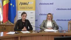 """Briefing de presă organizat de Fracțiunea PAS din CMC cu tema """"Businessul primăriei Chișinău pe sănătatea copiilor"""""""