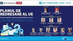 """Conferința online organizată de Biroul Parlamentului European în România cu tema """"Planul de redresare al UE – Tranziția digitală și creșterea competitivității economice"""""""