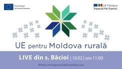 """LIVE Tour """"UE pentru Moldova Rurală"""": Cunoaște istoria de succes a beneficiarei Femei în Afaceri, Lucia Gavriliță din s. Bacioi"""