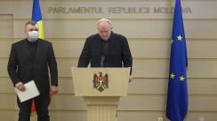 Conferință de presă susținută de deputații PSRM Vasile Bolea și Grigore Novac