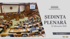 Ședința Parlamentului Republicii Moldova din 12 februarie 2021
