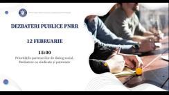 """Dezbateri publice organizate de Ministerul Investițiilor și Proiectelor Europene cu tema """"Prioritățile partenerilor de dialog social."""""""