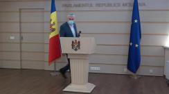 Declarațiile lui Alexandru Slusari în timpul ședinței Parlamentului Republicii Moldova din 12 februarie 2021