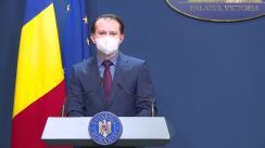 Conferință de presă susținută de Prim-ministrul României, Florin Cîțu