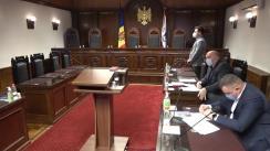 Ședința Curții Constituționale privind controlul constituționalității Decretului Președintelui Republicii Moldova nr. 32-IX din 11 februarie 2021 privind desemnarea candidatului pentru funcția de Prim-ministru