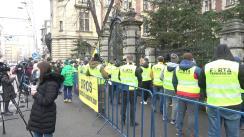 Acțiune de protest organizată de Asociația Forța Fermierilor în fața Ministerului Agriculturii și Dezvoltării Rurale