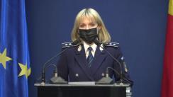 Declarație de presă susținută de purtătorul de cuvânt al Ministerului Afacerilor Interne, comisar-șef de poliție Monica Dajbog, referitoare la activitățile desfășurate de structurile MAI pentru limitarea răspândirii virusului SARS-CoV-2