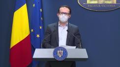 Declarații de presă după ședința Guvernului României din 19 februarie 2021