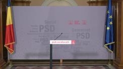 Conferință de presă susținută de prim-vicepreședintele PSD, senatorul Gabriela Firea