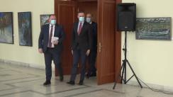 Conferință de presă susținută de Ministrul Afacerilor Externe și Integrării Europene al Republicii Moldova, Aureliu Ciocoi, și Ministrul Afacerilor Externe și Comerțului al Lituaniei, Gabrielius Landsbergis