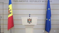 """Briefing de presă susținut de deputații Platformei parlamentare """"Pentru Moldova"""" și cei ai Partidului """"ȘOR"""" în legătură cu incidentul care a avut loc la Președinție"""
