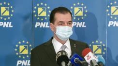 Conferință de presă după Reuniunea Biroului Executiv al Partidului Național Liberal din 1 martie 2021