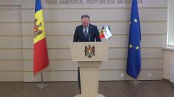"""Briefing de presă susținut de Președintele Grupului parlamentar """"PRO MOLDOVA"""", Andrian Candu"""