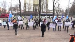 Protest organizat de angajații Căilor Ferate din Moldova