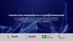 Semnarea Memorandumului de Înțelegere pentru dezvoltarea Centrului de excelență TIC și implementarea programelor TEKWILL în UTA Găgăuzia