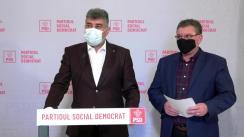 Conferință de presă după ședința Biroului Politic Național al Partidului Social Democrat din 8 martie 2021