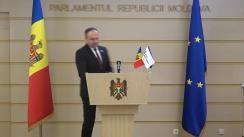 """Briefing de presă susținut de către deputatul Andrian Candu, președintele Grupului parlamentar """"PRO MOLDOVA"""""""