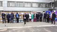 Ceremonia de donație din partea UE, Guvernului Germaniei și OMS a echipamentelor medicale