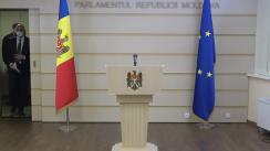 Briefing de presă susținut de președintele Partidului Democrat din Moldova, Pavel Filip