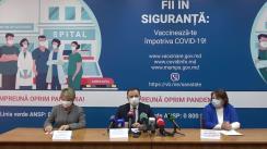 Conferința de presă organizată de Ministerul Sănătății, Muncii și Protecției Sociale privind procesul de vaccinare împotriva COVID-19 în Republica Moldova