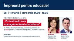 """Dezbaterea cu tema """"Profesionalizarea managementului educațional"""""""
