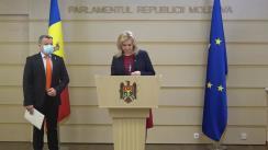 """Briefing de presă susținut de deputații Platformei parlamentare """"Pentru Moldova"""" și cei ai Partidului """"ȘOR"""""""