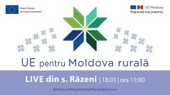 """LIVE Tour """"UE pentru Moldova Rurală"""": Cunoaște istoria de succes a beneficiarului UE, Sergiu Gurău din s.Răzeni, r.Ialoveni"""