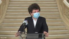 Conferință de presă susținută de Primarul Municipiului București, Nicușor Dan