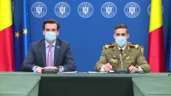 Conferință de presă susținută de președintele Comitetului Național de coordonare a activităților privind vaccinarea împotriva SARS-CoV-2, Valeriu Gheorghiță, și secretarul de stat în Ministerul Sănătății, Andrei Baciu