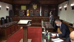 Ședința Curții Constituționale de examinare a sesizării referitoare la controlul constituționalității Legii nr. 230 din 16 decembrie 2020 pentru abrogarea Legii nr. 235/2016 privind emisiunea obligațiunilor de stat în vederea executării de către Ministerul Finanțelor a obligațiilor de plată derivate din garanțiile de stat nr. 807 din 17 noiembrie 2014 și nr. 101 din 1 aprilie 2015
