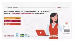 """Masa rotundă online organizată de Centrul Analitic Independent """"Expert-Grup"""" în colaborare cu Centrul de Drept al Femeilor cu tema """"Evaluarea impactului programelor de suport pentru abilitarea economică a femeilor"""""""