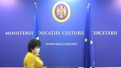 Briefing de presă susținut de ministrul Educației, Culturii și Cercetării Lilia Pogolșa de prezentare a informației privind desfășurarea procesului educațional în cadrul instituțiilor de învățământ începând cu data de 16 martie 2021