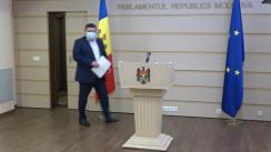 Declarațiile lui Petru Burduja în timpul ședinței Parlamentului Republicii Moldova din 18 martie 2021