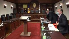 Ședința Curții Constituționale de examinare a sesizării nr. 60a/2021 pe marginea Decretului Președintelui Republicii Moldova nr. 47-IX din 16 martie 2021 privind desemnarea candidatului pentru funcția de Prim-ministru