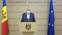 Declarațiile lui Alexandru Slusari în timpul ședinței Parlamentului Republicii Moldova din 19 martie 2021