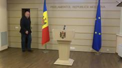 Briefing de presă susținut de președintele Comisiei juridice, numiri și imunități, Vasile Bolea